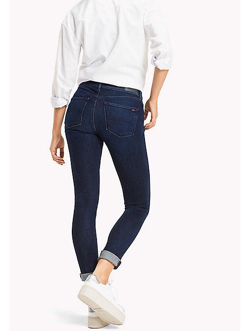 TOMMY JEANS Jeans Nora skinny a vita media - FLORIDA DARK BLUE STRETCH -  DONNE - dettaglio immagine 1