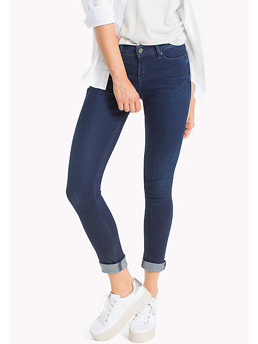 TOMMY JEANS Jeans Nora skinny a vita media - FLORIDA DARK BLUE STRETCH -  DONNE - immagine principale