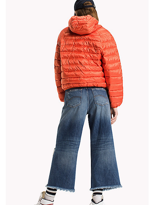 TOMMY JEANS Short Down Jacket - SPICY ORANGE - TOMMY JEANS Clothing - detail image 1