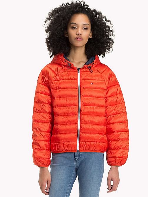 TOMMY JEANS Short Down Jacket - SPICY ORANGE - TOMMY JEANS Clothing - main image