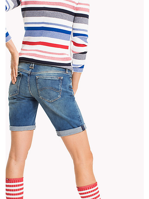 TOMMY JEANS Faded Denim Shorts - FLORIDA MID BLUE STRETCH - TOMMY JEANS WOMEN - detail image 1