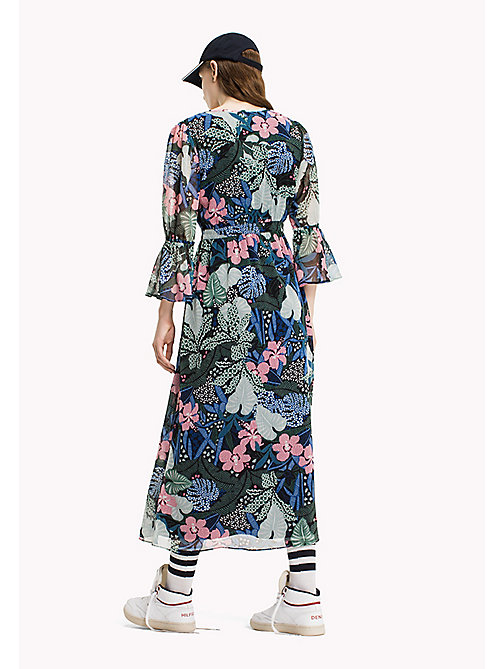 TOMMY JEANS Maxikleid aus Polyester-Krepp - BOTANICAL PRINT - TOMMY JEANS Kleider & Jumpsuits - main image 1