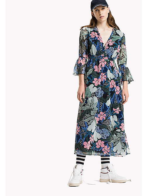 TOMMY JEANS Polyester Crepe Maxi Dress - BOTANICAL PRINT - TOMMY JEANS Dresses & Jumpsuits - main image