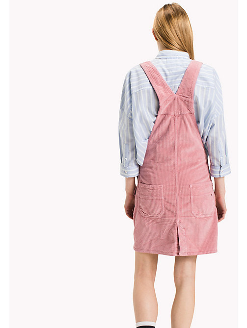 TOMMY JEANS Corduroy Dungaree Dress - BLUSH - TOMMY JEANS Dresses & Jumpsuits - detail image 1