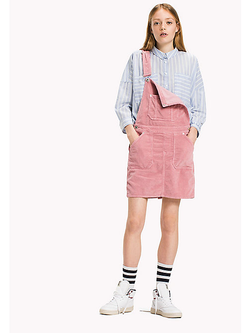 TOMMY JEANS Corduroy Dungaree Dress - BLUSH - TOMMY JEANS Dresses & Jumpsuits - main image
