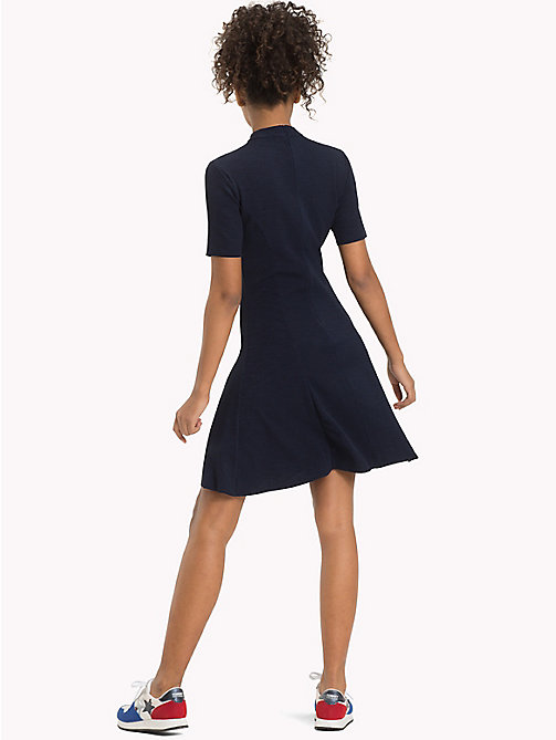 TOMMY JEANS Jersey Fit And Flare Dress - NAVY BLAZER - TOMMY JEANS Dresses & Jumpsuits - detail image 1