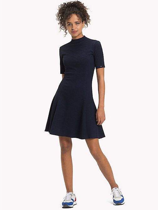 TOMMY JEANS Jersey Fit And Flare Dress - NAVY BLAZER - TOMMY JEANS Dresses & Jumpsuits - main image