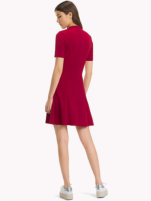 TOMMY JEANS Jersey Fit And Flare Dress - PERSIAN RED - TOMMY JEANS Dresses & Jumpsuits - detail image 1