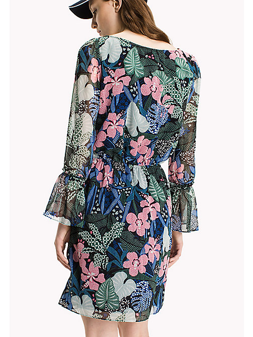 TOMMY JEANS Polyester Crepe A-Line Dress - BOTANICAL PRINT - TOMMY JEANS Dresses & Jumpsuits - detail image 1