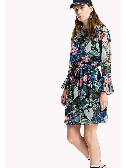 TOMMY JEANS Polyester Crepe A-Line Dress - BOTANICAL PRINT - TOMMY JEANS Dresses & Jumpsuits - main image