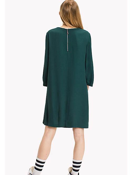 TOMMY JEANS Viscose Blend A-Line Dress - SEA MOSS - TOMMY JEANS Dresses & Jumpsuits - detail image 1