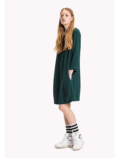 TOMMY JEANS Viscose Blend A-Line Dress - SEA MOSS - TOMMY JEANS Dresses & Jumpsuits - main image