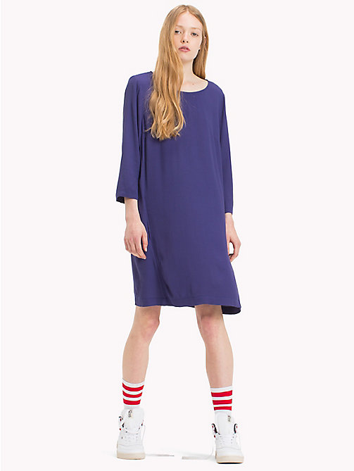 TOMMY JEANS Viscose Blend A-Line Dress - BLUE RIBBON - TOMMY JEANS Dresses & Jumpsuits - main image