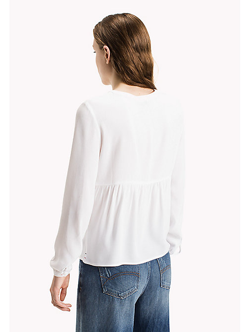 TOMMY JEANS Viscose Poplin Blouse - BRIGHT WHITE - TOMMY JEANS Clothing - detail image 1