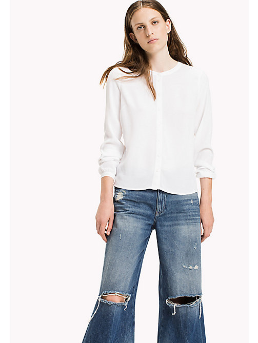 TOMMY JEANS Viscose Poplin Blouse - BRIGHT WHITE - TOMMY JEANS Clothing - main image