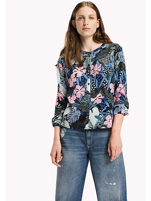 TOMMY JEANS Viscose Poplin Blouse - BOTANICAL PRINT - TOMMY JEANS Clothing - main image