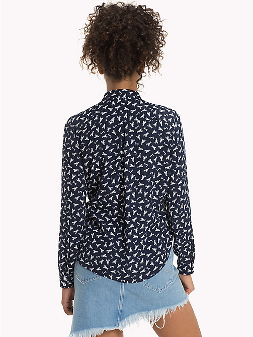 TOMMY JEANS Viscose Printed Shirt - LOBSTER SMALL - TOMMY JEANS Tops - detail image 1