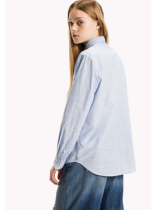 TOMMY JEANS Cotton Boyfriend Shirt - SERENITY - TOMMY JEANS Tops - detail image 1