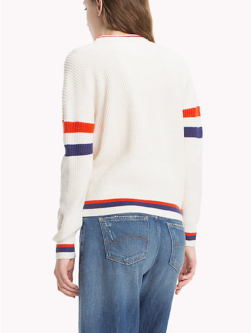 TOMMY JEANS Ski-Pullover aus Baumwoll-Mix - SNOW WHITE / MULTI - TOMMY JEANS Pullover & Strickjacken - main image 1