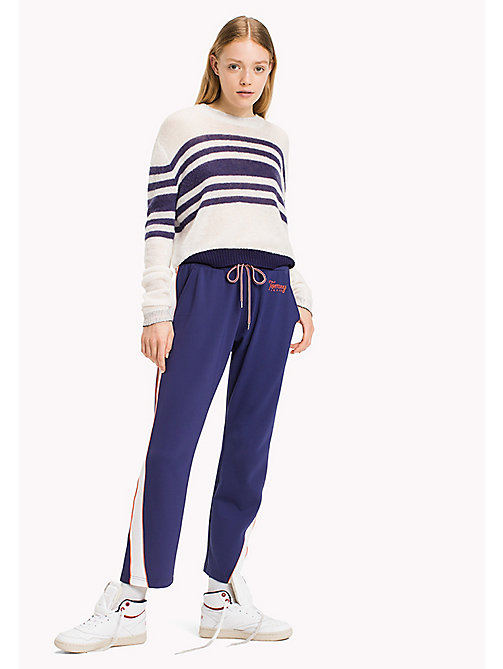 TOMMY JEANS Mohair Blend Striped Jumper - BRIGHT WHITE / BLUE RIBBON - TOMMY JEANS Knitwear - main image