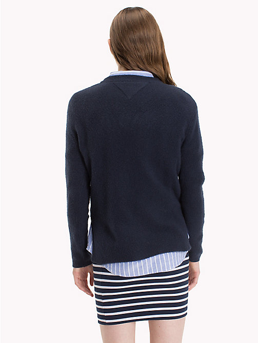 TOMMY JEANS Polyacrylic Blend Jumper - NAVY BLAZER - TOMMY JEANS Sweatshirts & Knitwear - detail image 1