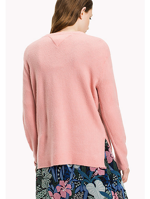 TOMMY JEANS Polyacrylic Blend Jumper - BLUSH - TOMMY JEANS Knitwear - detail image 1