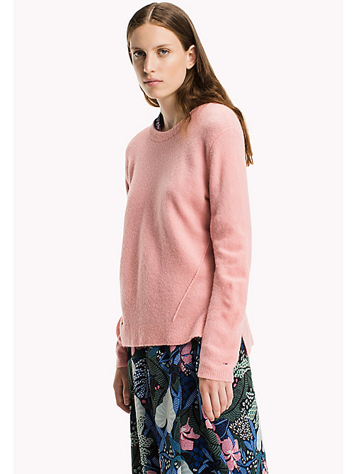 TOMMY JEANS Polyacrylic Blend Jumper - BLUSH - TOMMY JEANS Knitwear - main image