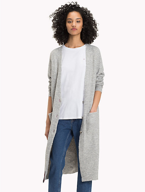 TOMMY JEANS Cardigan con scollo a V - LT GREY HTR - TOMMY JEANS Maglieria - immagine principale