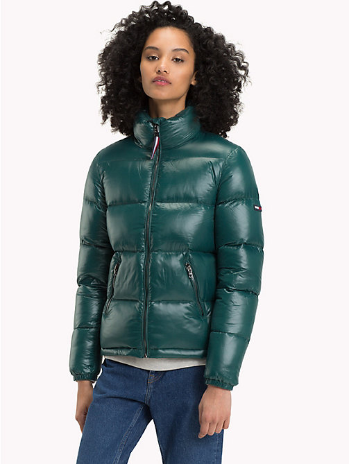 TOMMY JEANS Nylon Down Jacket - SEA MOSS - TOMMY JEANS Coats & Jackets - main image