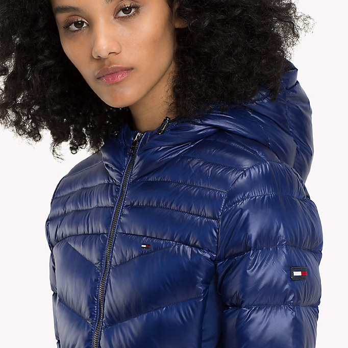 TOMMY JEANS Nylon Down Jacket - NAVY BLAZER - TOMMY JEANS Clothing - detail image 3