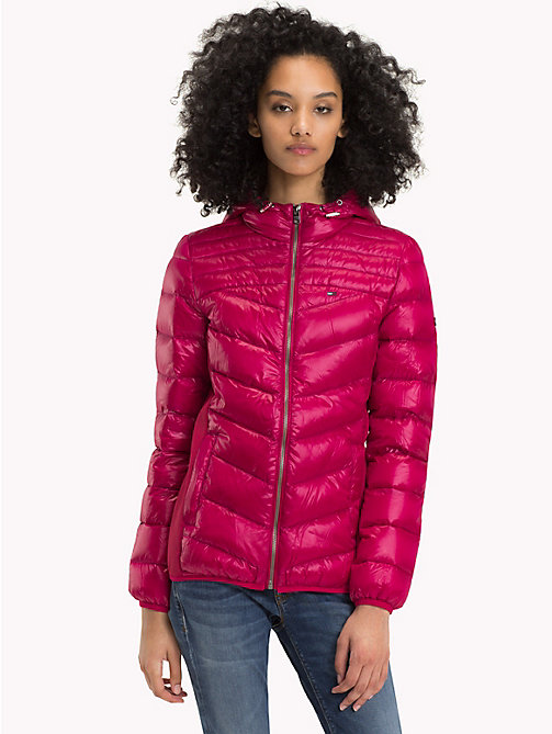 TOMMY JEANS Nylon Down Jacket - PERSIAN RED - TOMMY JEANS Coats & Jackets - main image