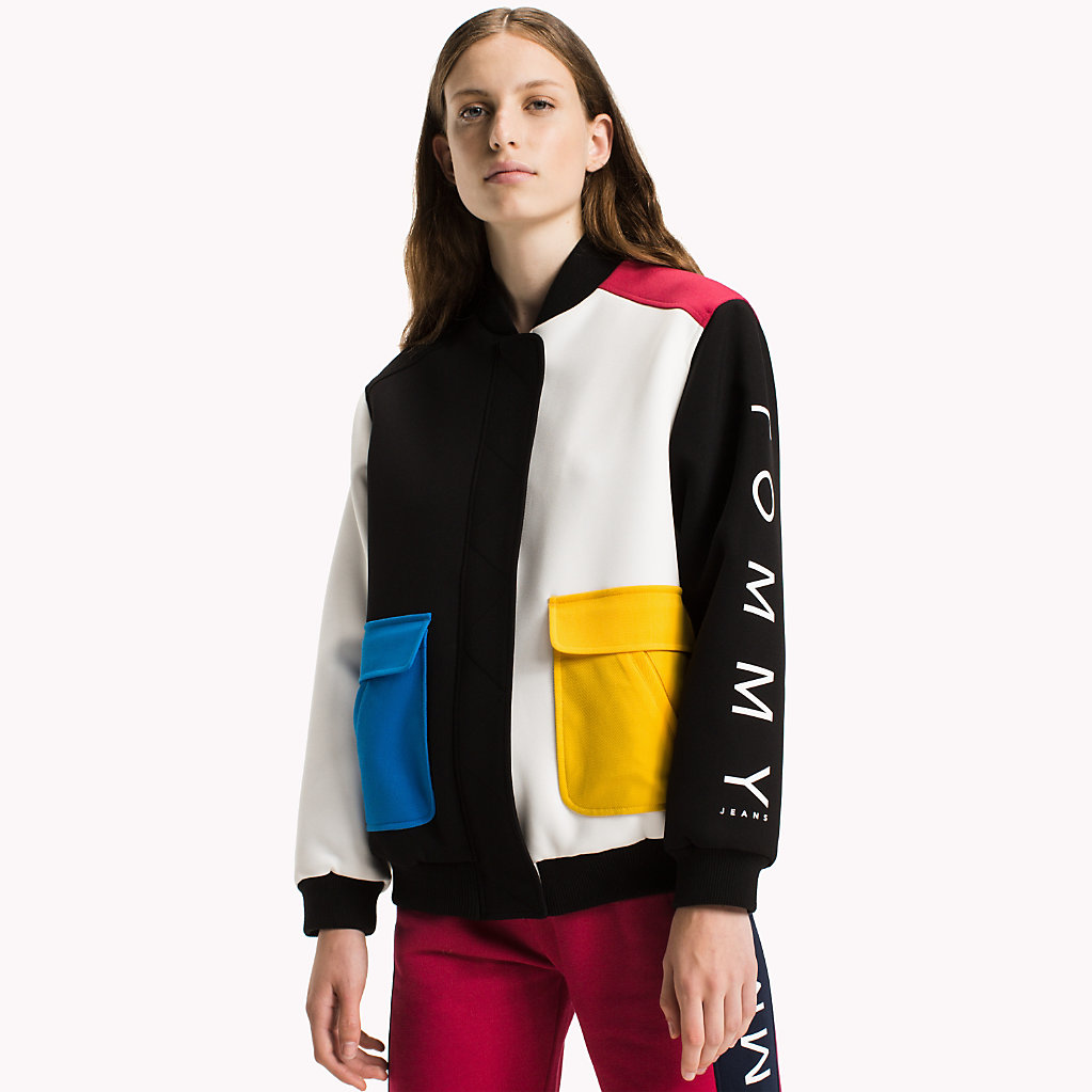 Tommy Hilfiger Bomber color-block en crêpe