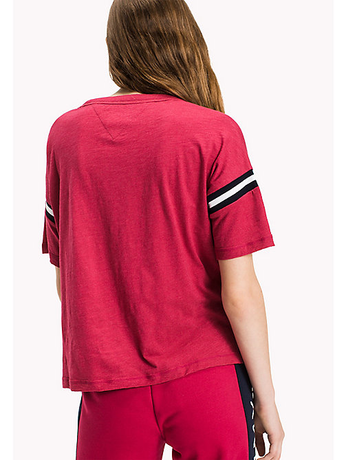 TOMMY JEANS Jersey Varsity T-Shirt - PERSIAN RED - TOMMY JEANS Tops - detail image 1