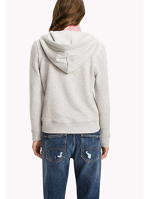TOMMY JEANS Terry Zip Hoodie - LT GREY HTR - TOMMY JEANS WOMEN - detail image 1