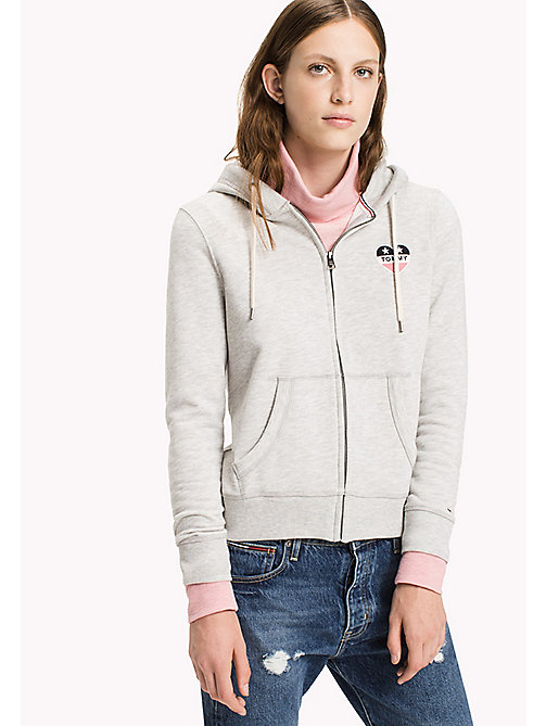 TOMMY JEANS Terry Zip Hoodie - LT GREY HTR - TOMMY JEANS Women - main image