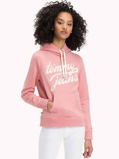 TOMMY JEANS Terry Zip Hoodie - BLUSH - TOMMY JEANS Hoodies & Sweatshirts - main image