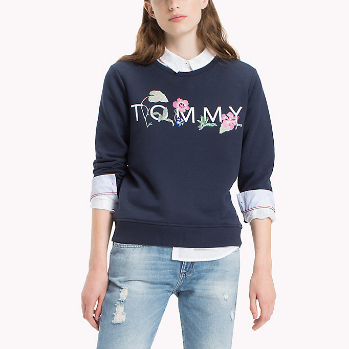 TOMMY JEANS Fleece sweatshirt met logo - BRIGHT WHITE - TOMMY JEANS Kleding - detail image 2
