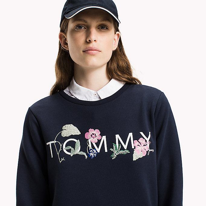 TOMMY JEANS Fleece sweatshirt met logo - BRIGHT WHITE - TOMMY JEANS Kleding - main image