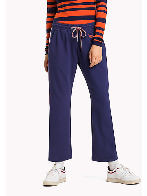 TOMMY JEANS Viscose Blend Sweatpants - BLUE RIBBON / BRIGHT WHITE - TOMMY JEANS Trousers - main image