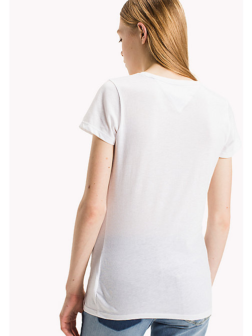 TOMMY JEANS T-shirt ajusté en coton bio - BRIGHT WHITE - TOMMY JEANS Sustainable Evolution - image détaillée 1