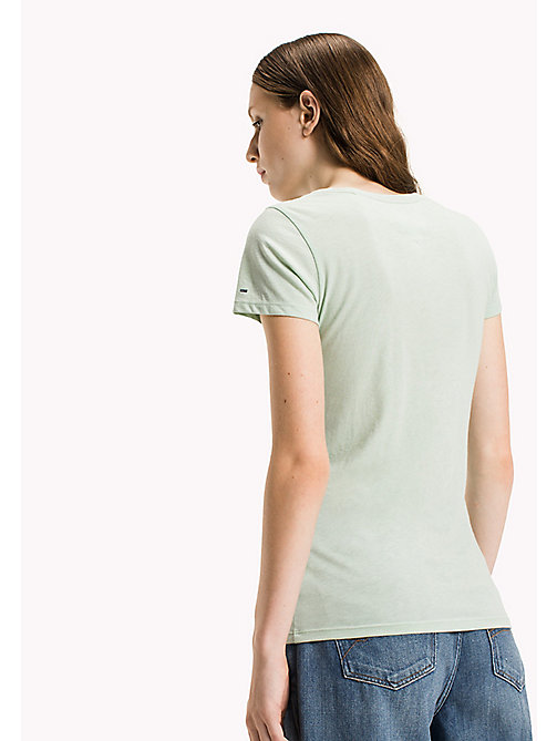 TOMMY JEANS Organic Cotton Blend Fitted T-Shirt - AQUA FOAM - TOMMY JEANS Sustainable Evolution - detail image 1