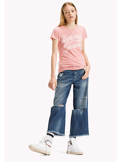 TOMMY JEANS Organic Cotton Blend Fitted T-Shirt - BLUSH - TOMMY JEANS Tops - main image