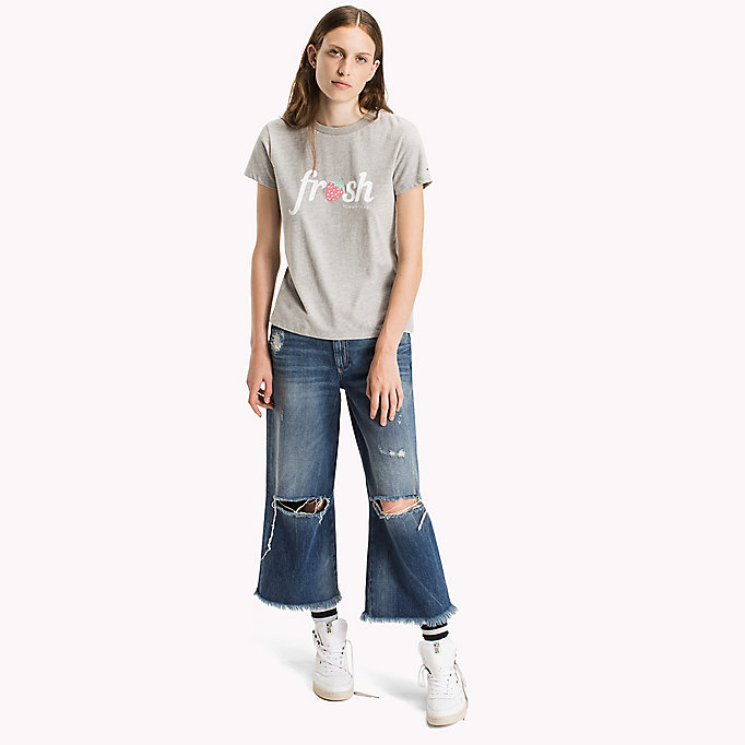 TOMMY JEANS Cotton Jersey Logo T-Shirt - BRIGHT WHITE - TOMMY JEANS Clothing - main image