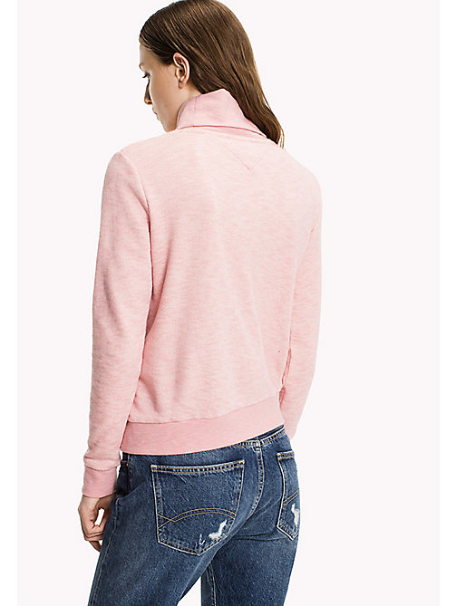TOMMY JEANS Terry Turtleneck Sweatshirt - BLUSH - TOMMY JEANS Clothing - detail image 1