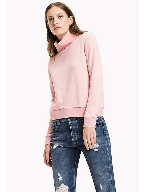 TOMMY JEANS Terry Turtleneck Sweatshirt - BLUSH - TOMMY JEANS Clothing - main image