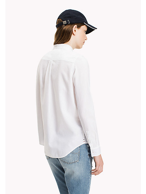 TOMMY JEANS Cotton Regular Shirt - BRIGHT WHITE - TOMMY JEANS Tops - detail image 1