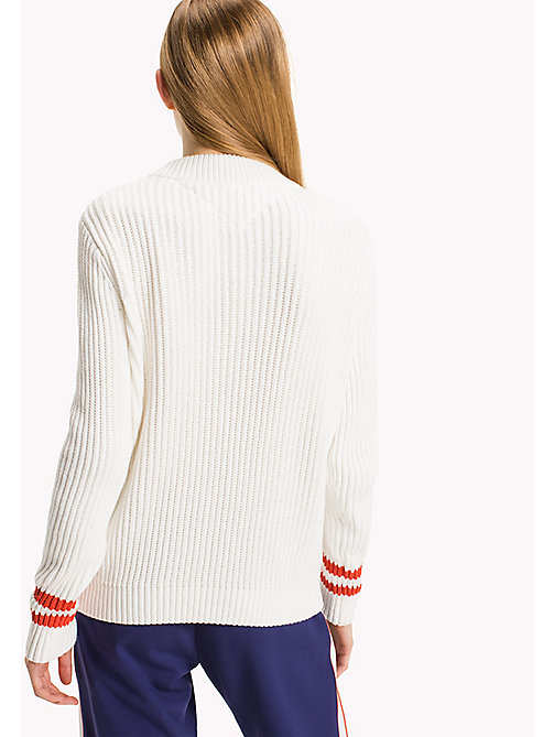 TOMMY JEANS Cotton Knit Jumper - SNOW WHITE - TOMMY JEANS Knitwear - detail image 1