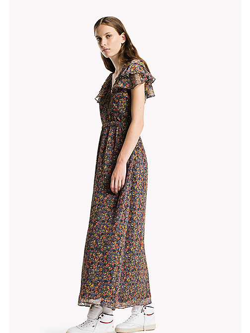 TOMMY JEANS Polyester Crepe Maxi Dress - DITSY FLOWER - TOMMY JEANS Dresses & Jumpsuits - main image