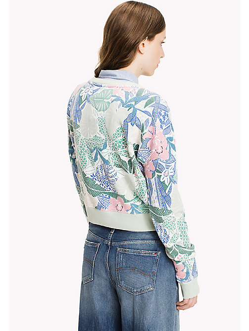 TOMMY JEANS Terry Cropped Sweatshirt - BOTANICAL PRINT - TOMMY JEANS Clothing - detail image 1
