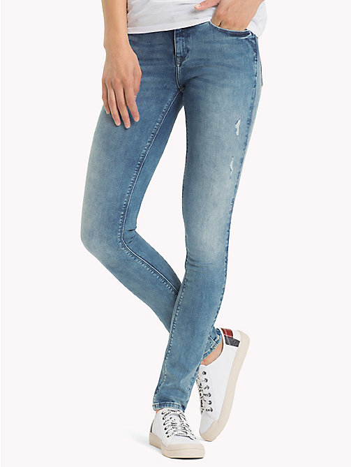 TOMMY JEANS Dynamic Stretch Skinny Fit Jeans - DYNAMIC BALMY LIGHT BLUE STRETCH DESTRUC - TOMMY JEANS Jeans - main image
